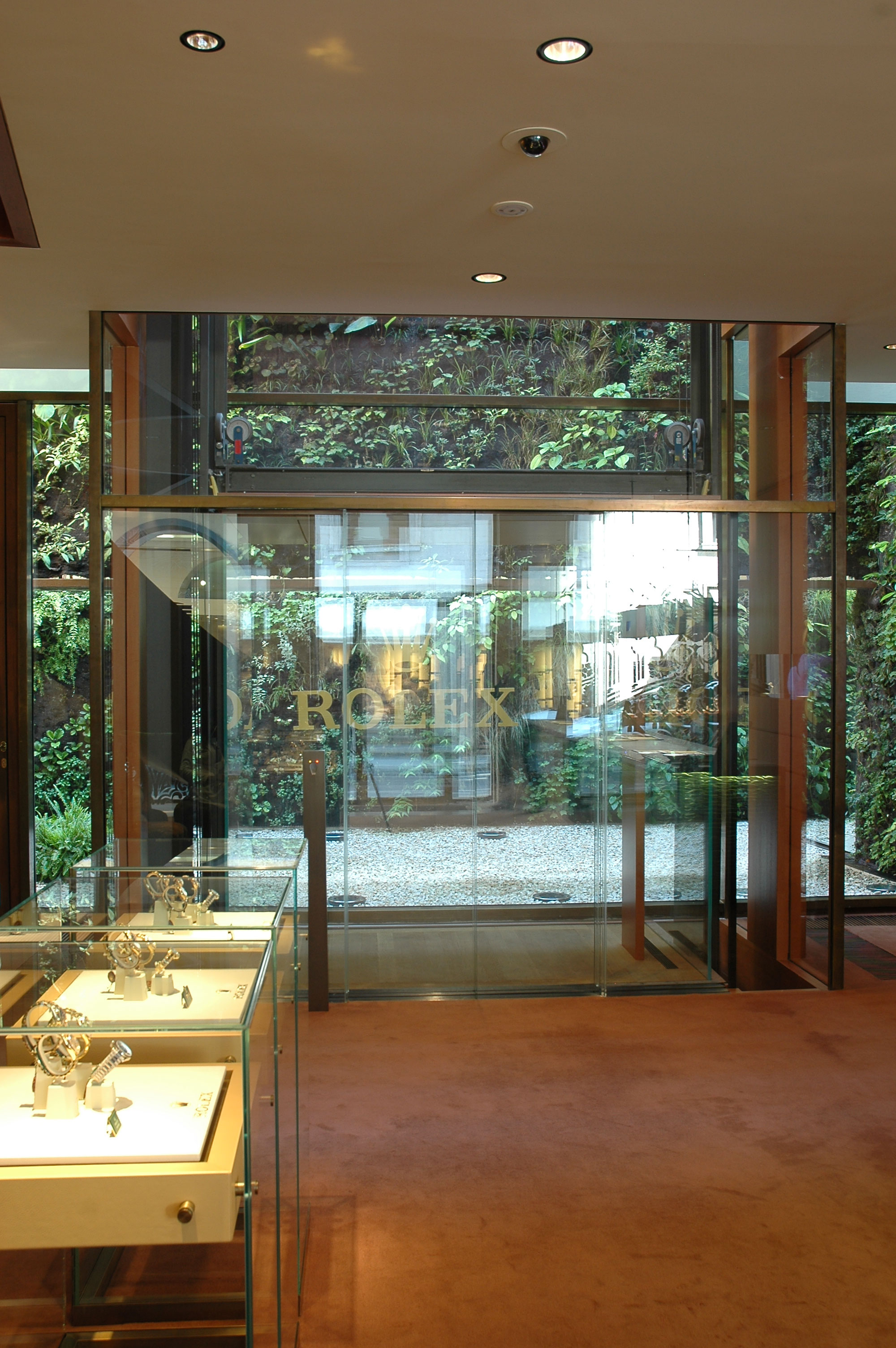 Elevator with fingerprint access control for Rolex in Milan