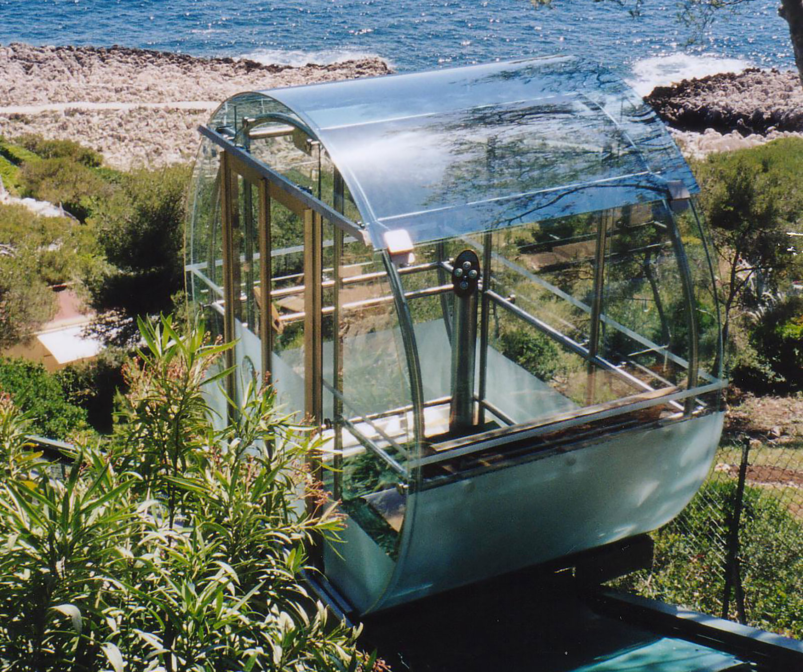 Panoramic Glass Lifts for the Grand Hotel Cap-Ferrat, France