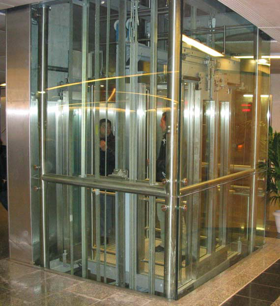 Panoramic glass & stainless steel elevators for the Paris metro station